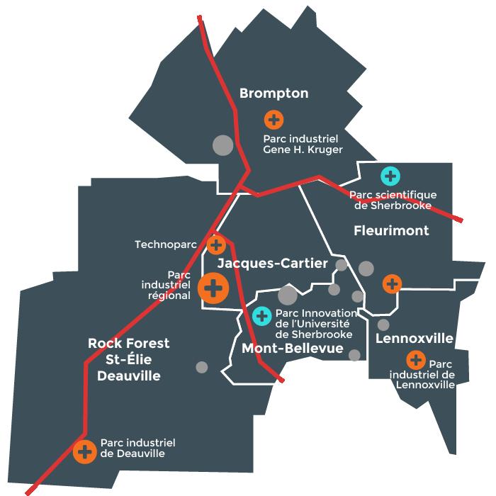 Carte parcs industriels